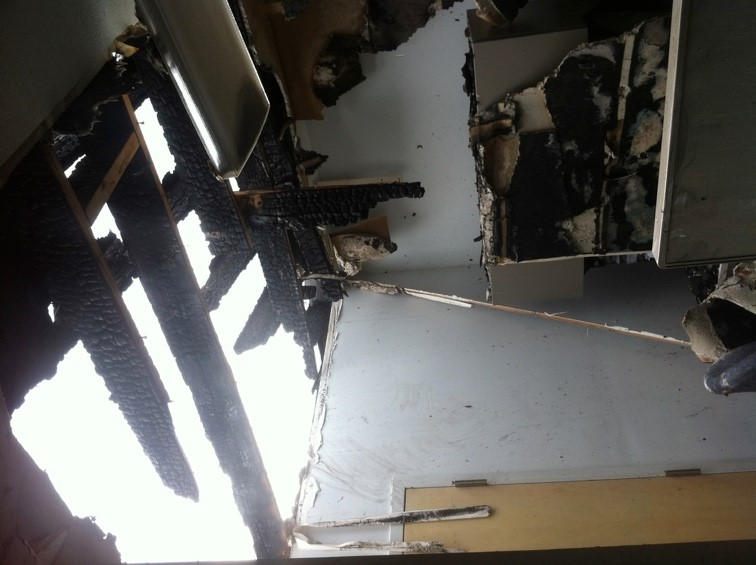 sever house damages caused by tornado