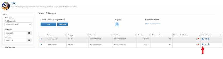 The Run Analysis Report can be accessed directly from the existing run report.