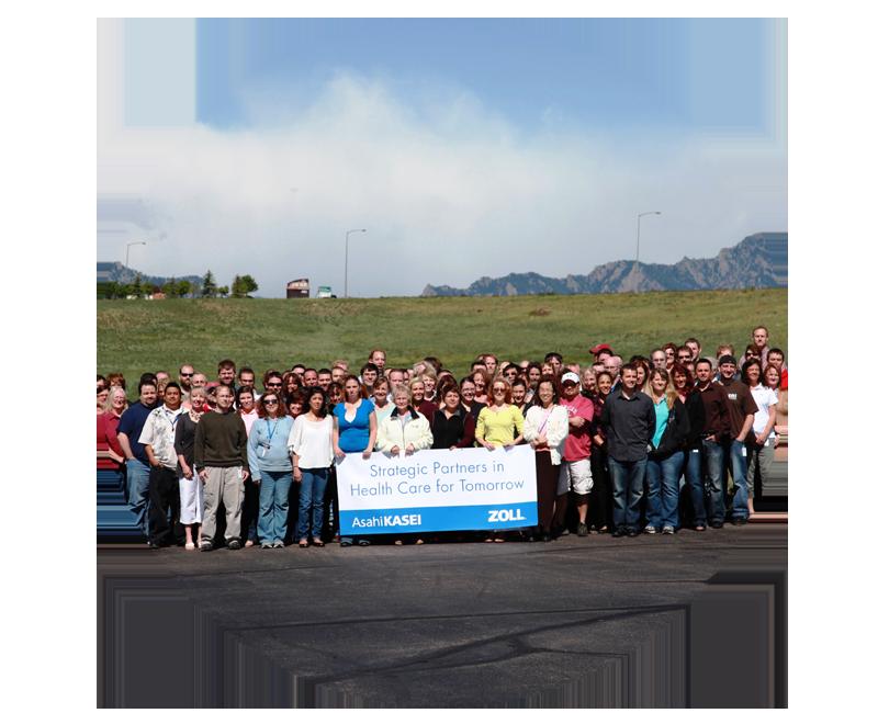 Group photo of ZOLL Data team members