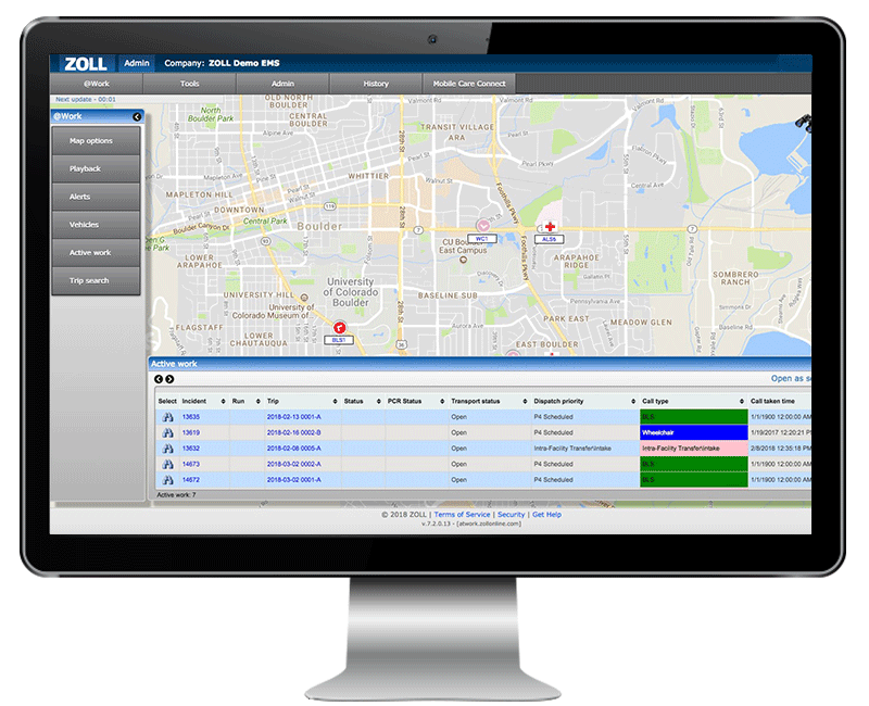 ZOLL Automated vehicle location system for EMS