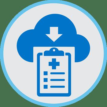 Cloud patient care Icon