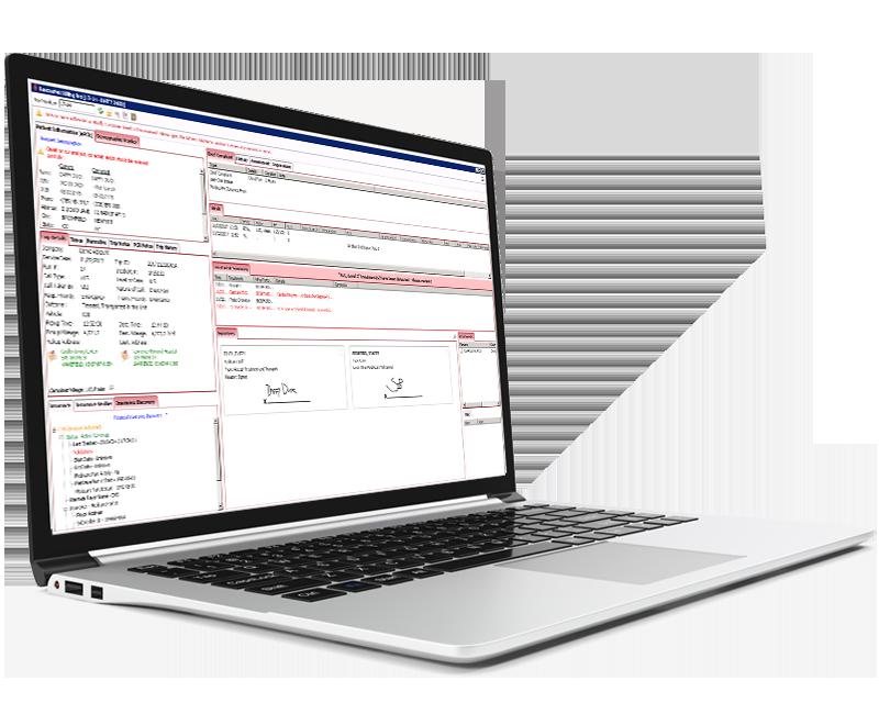 Billing Pro screenshot on laptop