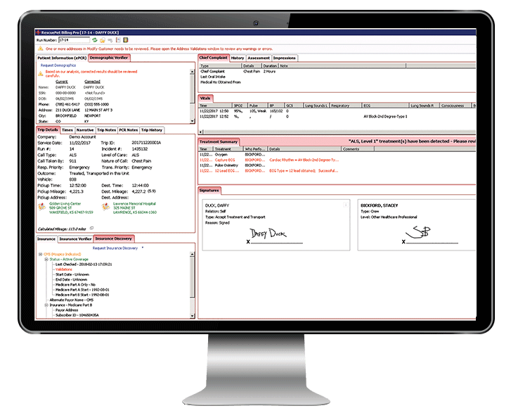 billing pro screenshot on monitor