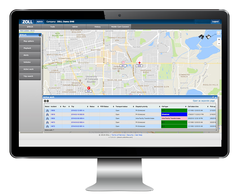Screenshot of @work on computer monitor