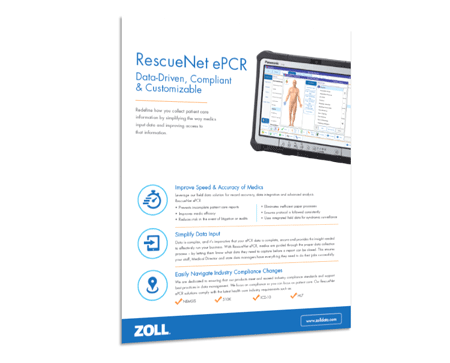 RescueNet ePCR Product Sheet