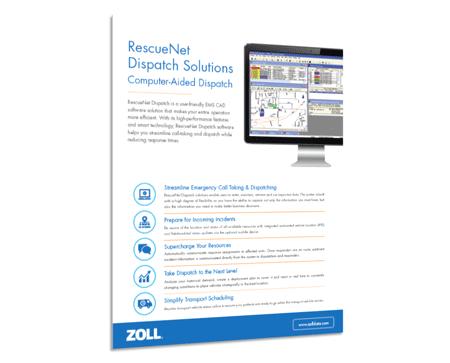 RescueNet Dispatch Product Spec Sheet