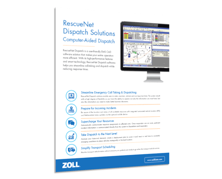 RescueNet Dispatch Product Spec Sheet