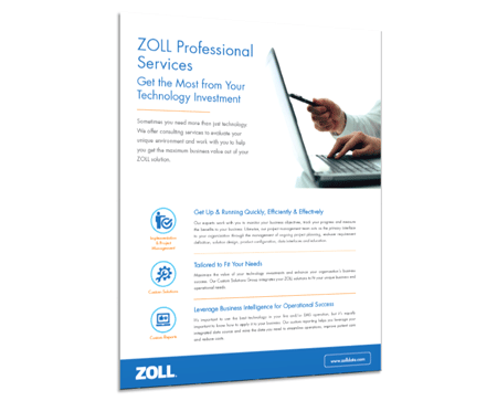 ZOLL Professional Services Product Sheet
