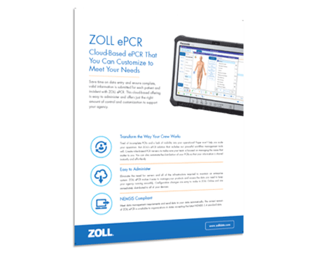 ZOLL epcr product sheet