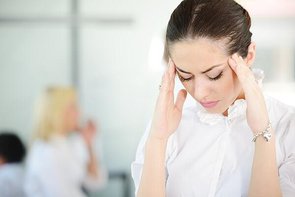 Business people with stress and worries in office
