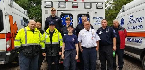 Thorne ambulance crew
