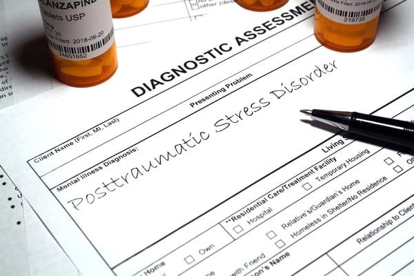 PTSD diagnosis on paper