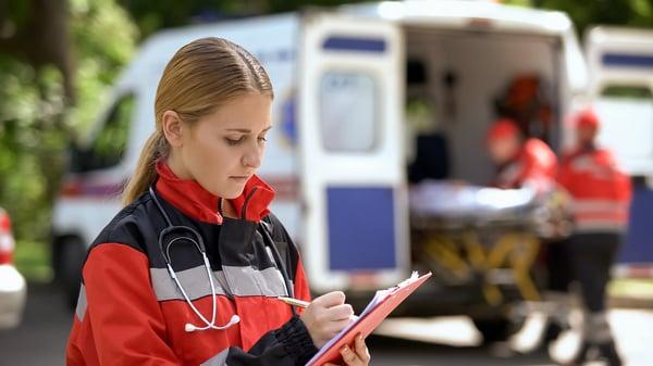 Proper Payment Blog - ZOLL Pulse. EMT Taking Notes