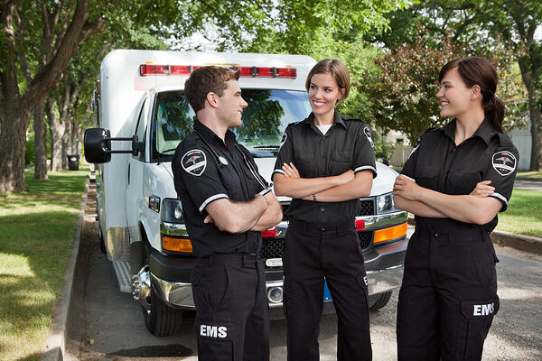 Paramedics socializing