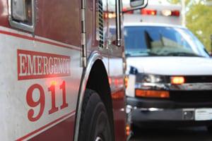 emergency 911 ambulance trucks