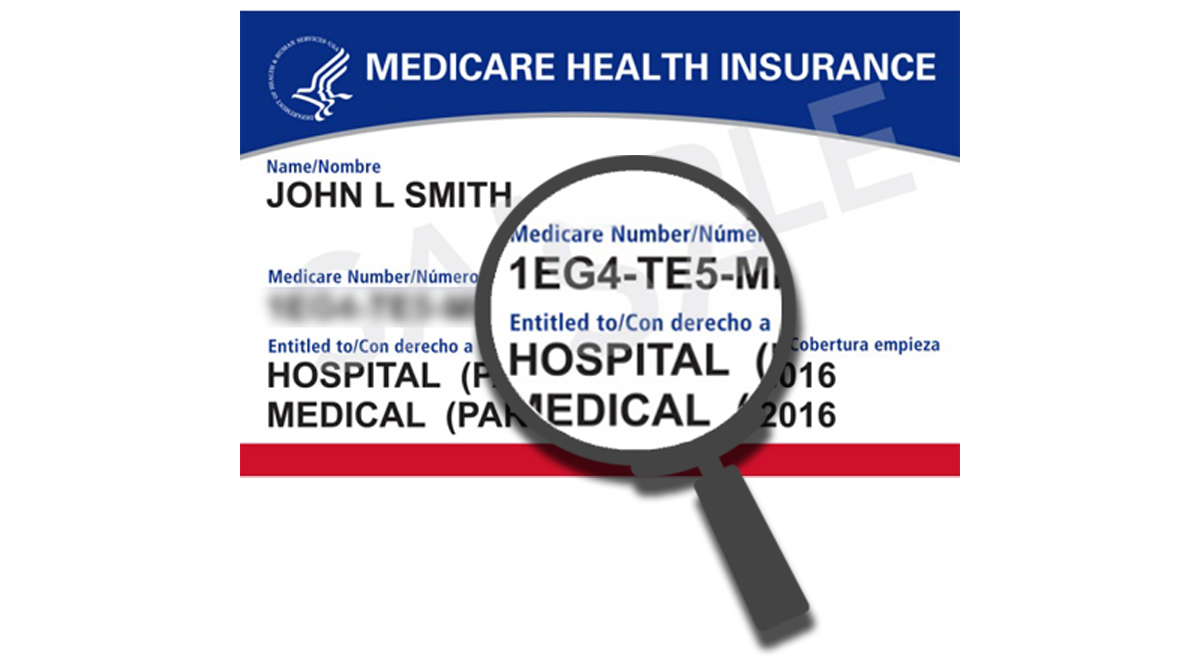 Example Medicare Health Insurance Card